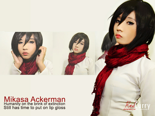 Mikasa Ackerman Cosplay Mikasa Ackerman cosplay trial